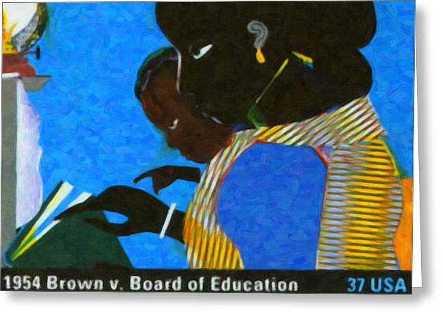 Discrimination Greeting Cards - 1954 Brown vs Board of Education Greeting Card by Lanjee Chee