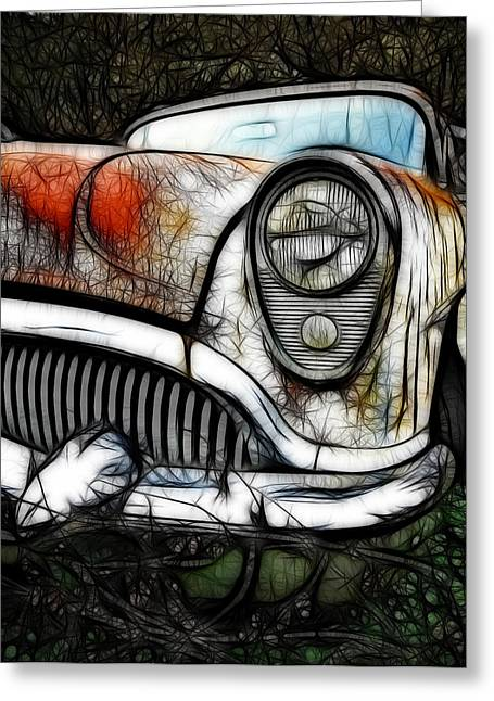 1950 Merc Greeting Cards - 1954 Buick Art Greeting Card by Steve McKinzie