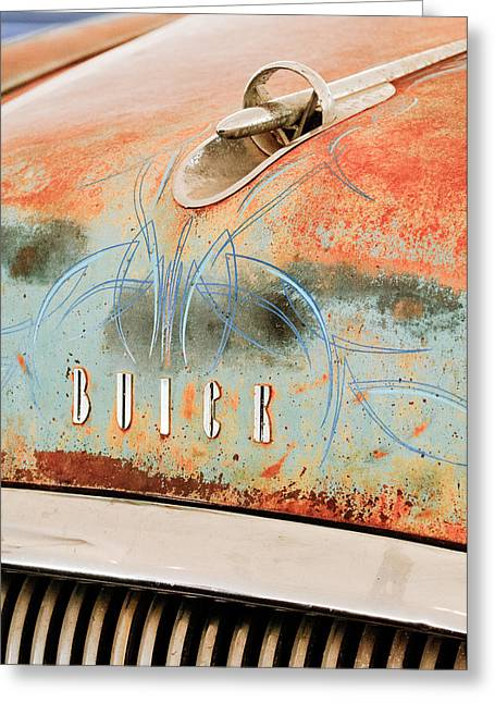 1954 Buick Special Hood Ornament Greeting Card by Jill Reger