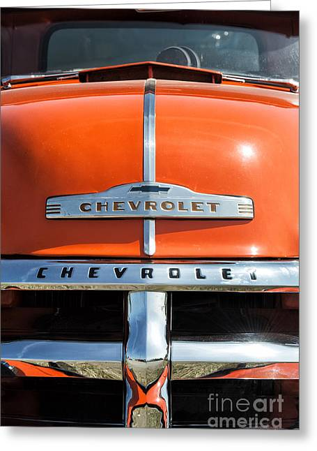 Front End Greeting Cards - 1954 Chevrolet 3100 Pickup Greeting Card by Tim Gainey