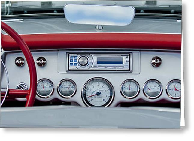 Famous Photographer Greeting Cards - 1954 Chevrolet Corvette Dashboard Greeting Card by Jill Reger
