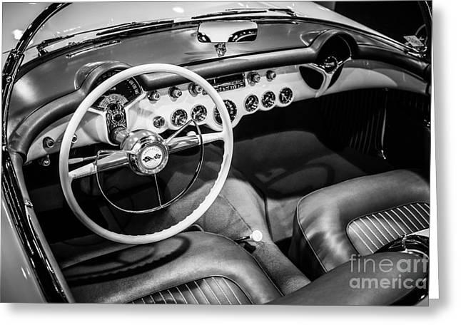 1954 Chevrolet Corvette Interior Greeting Card by Paul Velgos