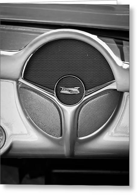 1954 Chevrolet Corvette Radio Speaker -392bw Greeting Card by Jill Reger