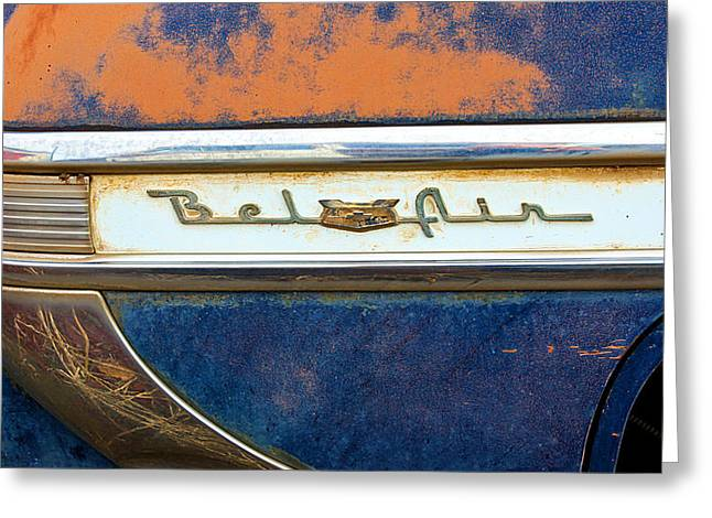 1950 Merc Greeting Cards - 1954 Chevy Bel Air Greeting Card by Steve McKinzie