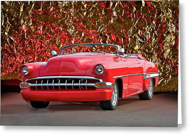 Slam Photographs Greeting Cards - 1954 Chevy Custom Convertible Greeting Card by Dave Koontz