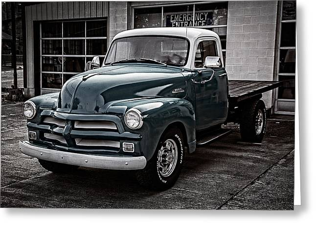 Tennessee Farm Greeting Cards - 1954 Chevy Truck Greeting Card by Debra and Dave Vanderlaan