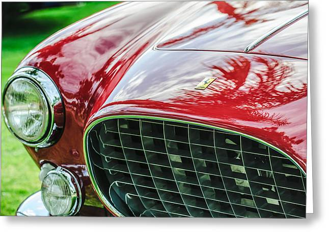 Ferrari 250gt Greeting Cards - 1954 Ferrari Europa 250 GT Grille -1336c Greeting Card by Jill Reger