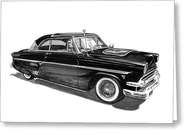 Custom Ford Greeting Cards - 1954 Ford Skyliner Greeting Card by Jack Pumphrey