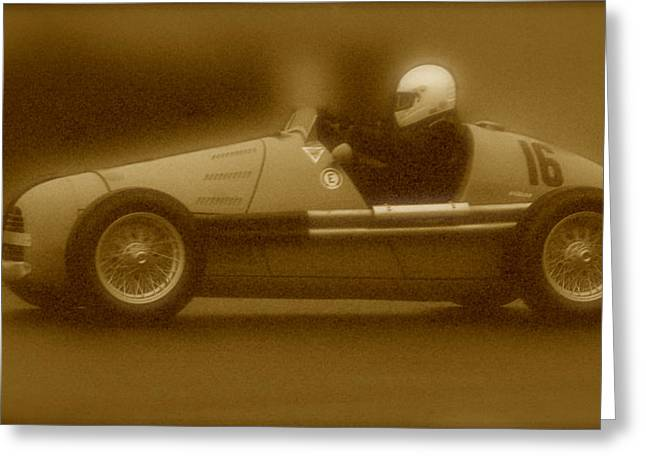 Single Seater Greeting Cards - 1954 Gordini Type 16 Greeting Card by John Colley