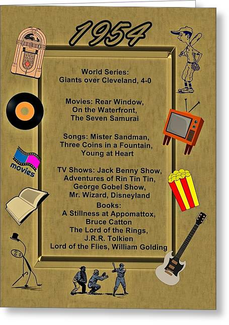 1954 Movies Greeting Cards - 1954 Great Events Greeting Card by Movie Poster Prints