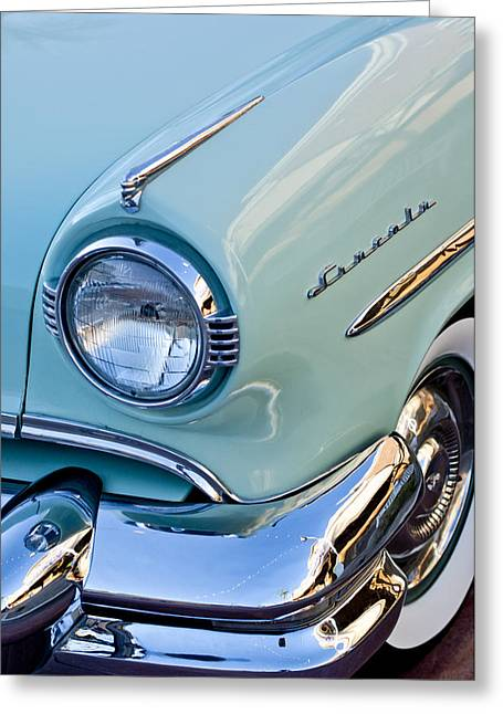 Headlight Photographs Greeting Cards - 1954 Lincoln Capri Headlight Greeting Card by Jill Reger