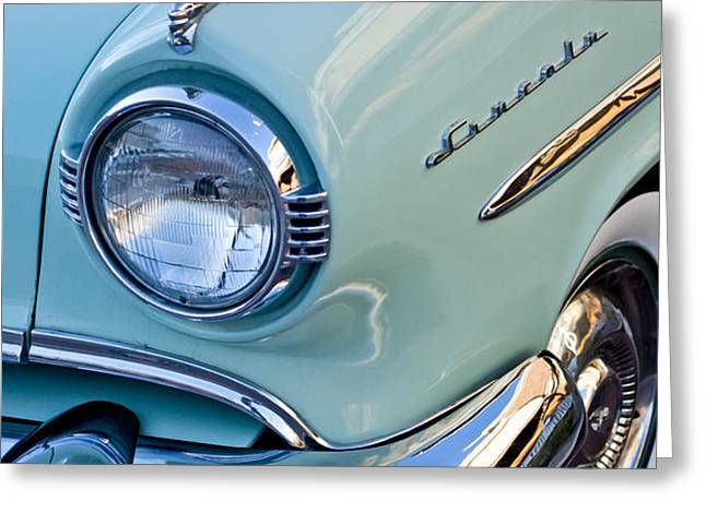 1954 Lincoln Capri Headlight Greeting Card by Jill Reger