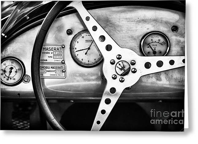 Motor Vehicles Greeting Cards - 1954 Maserati 250F Greeting Card by Tim Gainey