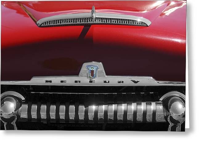 Monterey Greeting Cards - 1954 Mercury Monterey Hood Ornament Greeting Card by Jill Reger