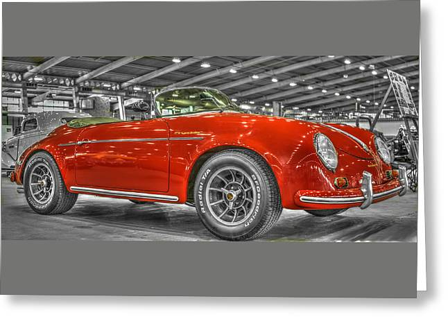 Huahin Greeting Cards - 1954 Porsche 356 Speedster  Greeting Card by John Straton