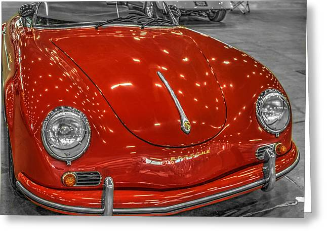 Huahin Greeting Cards - 1954 Porsche 356 Speedster v2 Greeting Card by John Straton