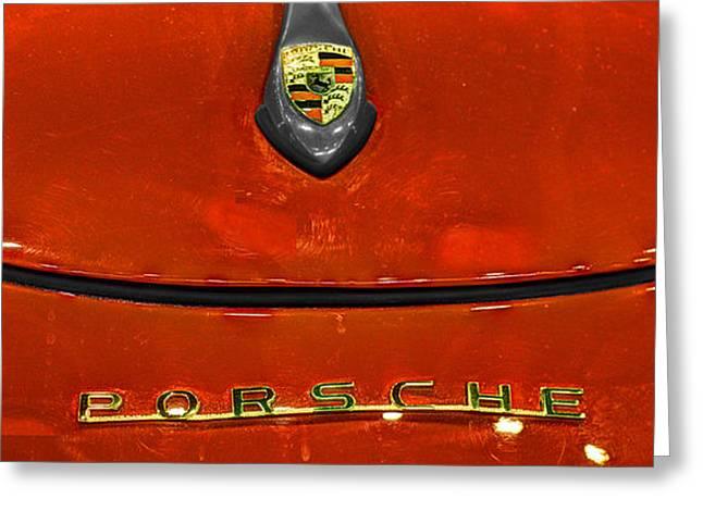 Rally Greeting Cards - 1954 Porsche 356 Speedster  v5 Greeting Card by John Straton