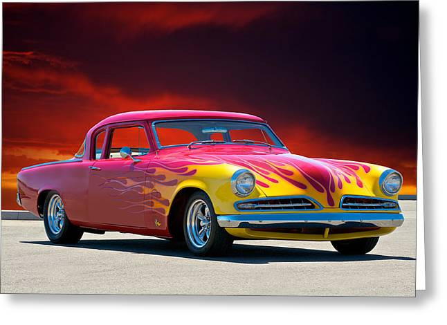 Slam Photographs Greeting Cards - 1954 Studebaker Custom Coupe Greeting Card by Dave Koontz