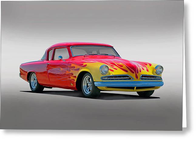 Slam Photographs Greeting Cards - 1954 Studebaker Studio Greeting Card by Dave Koontz