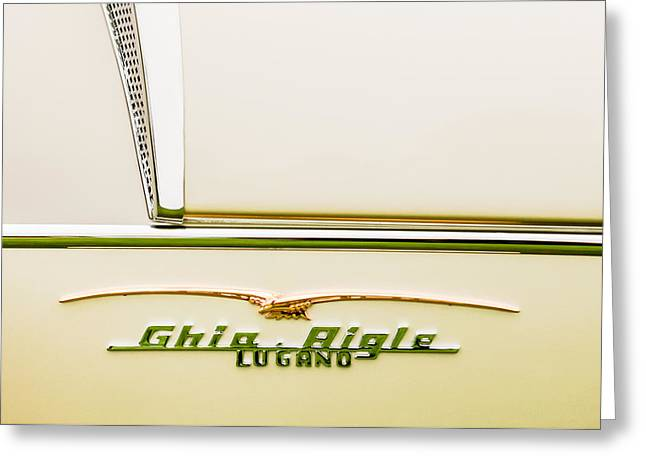 Ghia Greeting Cards - 1955 Alfa Romeo 1900 CSS Ghia Aigle Cabriolet Grille Emblem - Super Sprint Emblem -2266C Greeting Card by Jill Reger