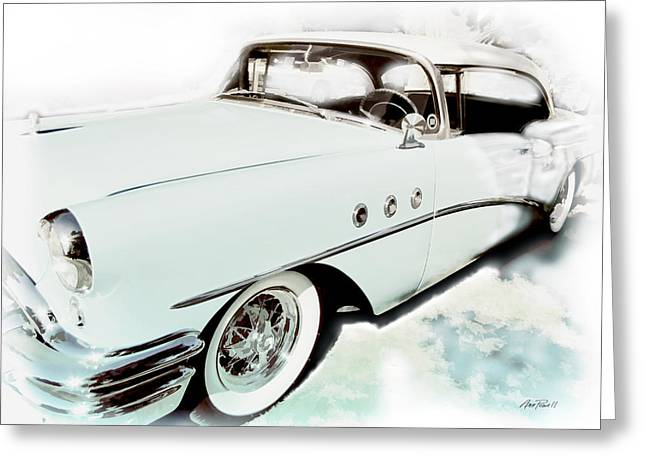 1955 Buick Greeting Cards - 1955 Buick Greeting Card by Ann Powell