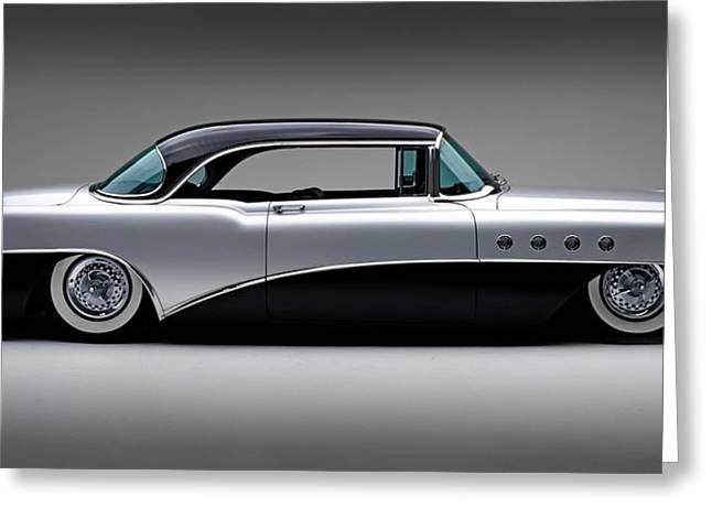 1955 Digital Art Greeting Cards - 1955 Buick Roadmaster Greeting Card by Gianfranco Weiss