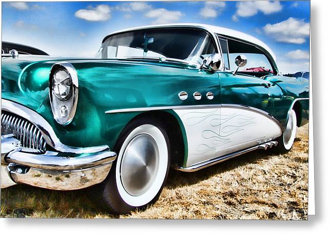 Ron Roberts Photography Greeting Cards - 1955 Buick Greeting Card by Ron Roberts