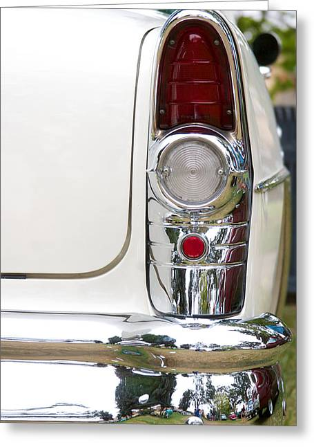 Caves Greeting Cards - 1955 Buick Special Tail Light Greeting Card by Brooke Roby