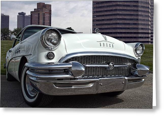 1955 Buick Greeting Cards - 1955 Buick Special Greeting Card by Tim McCullough