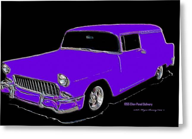 1955 Chev Panel Delivery P Greeting Card by Wayne Bonney