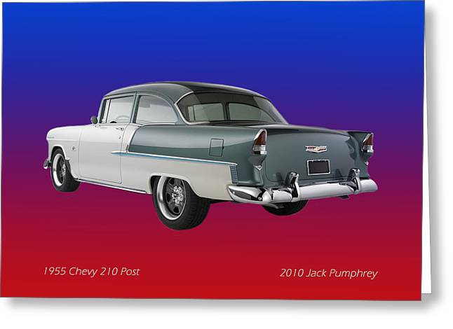 White Chevy Greeting Cards - 1955 Chevrolet 210 Greeting Card by Jack Pumphrey
