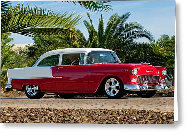 Car Photography Greeting Cards - 1955 Chevrolet 210 Greeting Card by Jill Reger