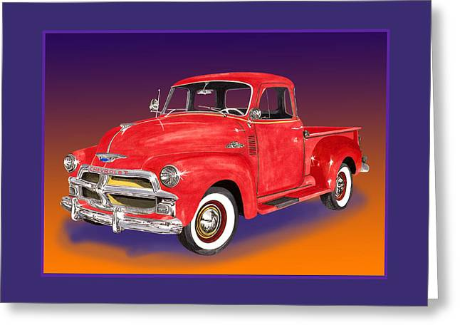 1955 Chevrolet 3100 Pick Up Truck Greeting Card by Jack Pumphrey