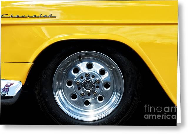 General Motors Company Greeting Cards - 1955 Chevrolet Abstract Greeting Card by Tim Gainey
