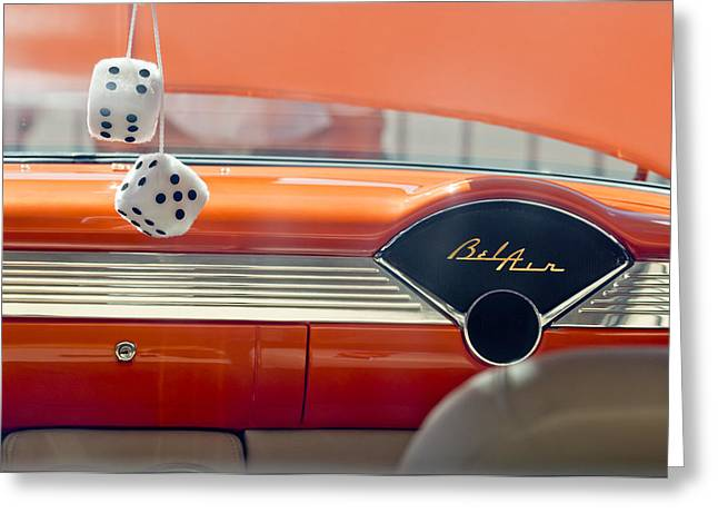 1955 Chevrolet Belair Dashboard Greeting Card by Jill Reger