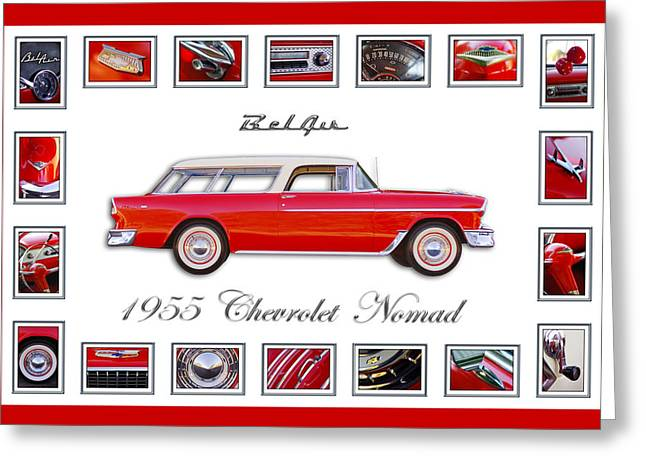 Nomads Greeting Cards - 1955 Chevrolet Belair Nomad Art Greeting Card by Jill Reger