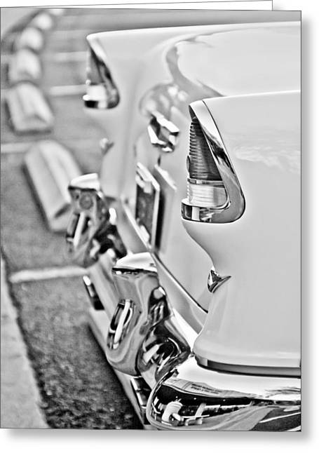 1955 Greeting Cards - 1955 Chevrolet Belair Taillights Greeting Card by Jill Reger