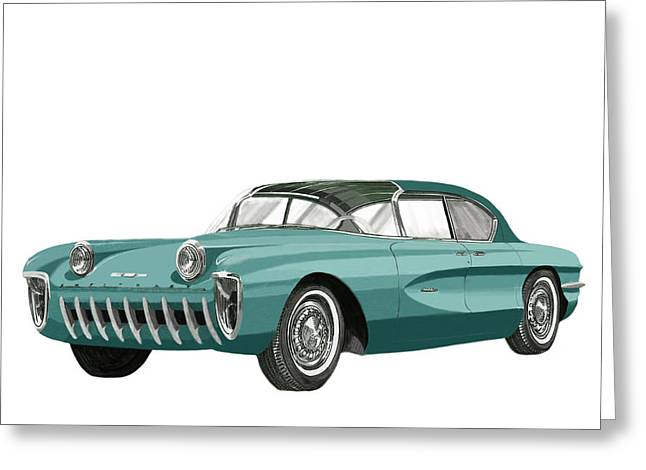 1955 Chevrolet Biscayne Concept Greeting Card by Jack Pumphrey