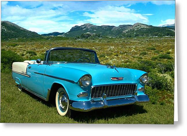 1955 Chevrolet Convertible Greeting Card by Tim McCullough