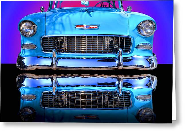 Car Shows Greeting Cards - 1955 Chevy Bel Air Greeting Card by Jim Carrell