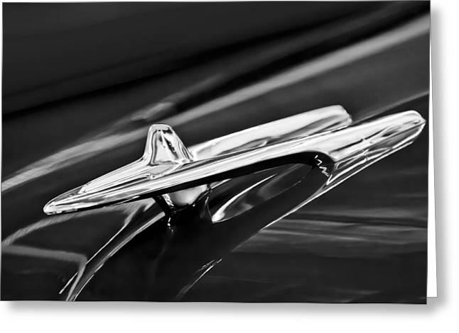 Car Hood Ornament Photographs Greeting Cards - 1955 DeSoto Hood Ornament 4 Greeting Card by Jill Reger