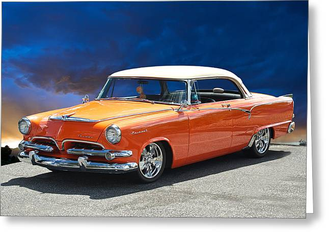 Slam Photographs Greeting Cards - 1955 Dodge Coronet Greeting Card by Dave Koontz