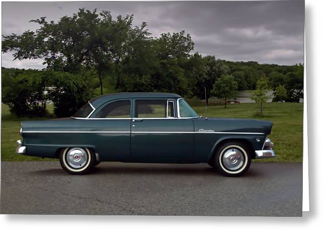 Ford Customline Greeting Cards - 1955 Ford Customline Greeting Card by Tim McCullough