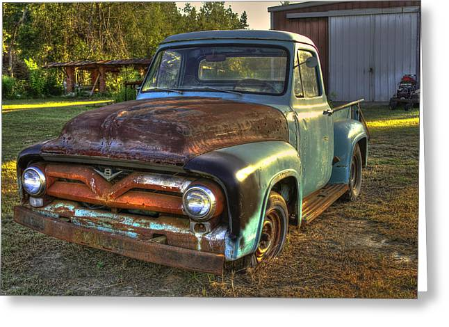 Chevrolet Pickup Truck Greeting Cards - 1955 Ford Redo Ready Greeting Card by Reid Callaway