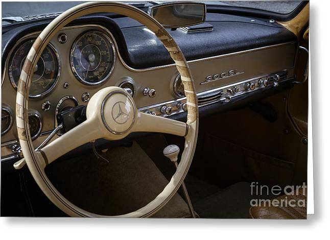 Mercedes 300sl Gullwing Greeting Cards - 1955 Mercedes 300SL Greeting Card by Dennis Hedberg
