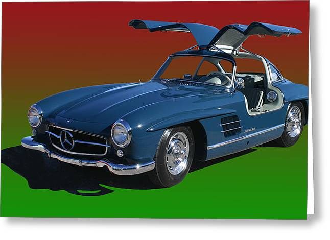 Mercedes 300sl Gullwing Greeting Cards - 1955 Mercedes Benz 300 S L  Greeting Card by Jack Pumphrey