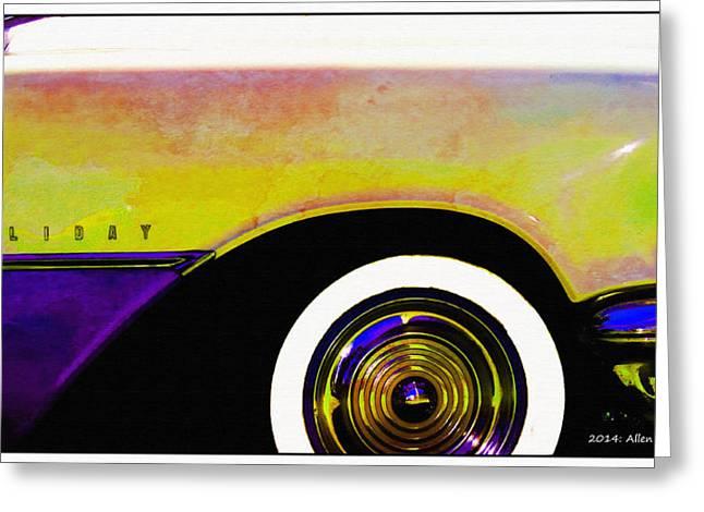 1955 Oldsmobile Holiday 88 Greeting Card by Allen Beilschmidt