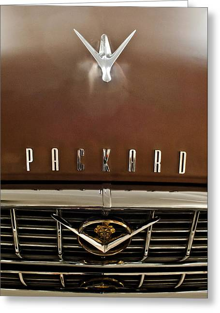 Car Mascot Greeting Cards - 1955 Packard 400 Hood Ornament Greeting Card by Jill Reger