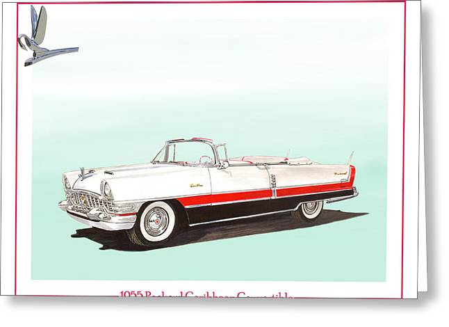 Converting Greeting Cards - 1955 Packard Caribbean Converible Greeting Card by Jack Pumphrey