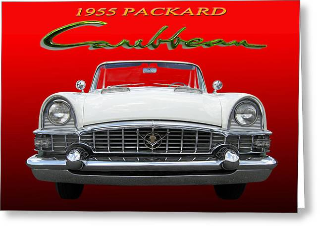Smooth Ride Greeting Cards - 1955 Packard Caribbean Convertible Greeting Card by Jack Pumphrey